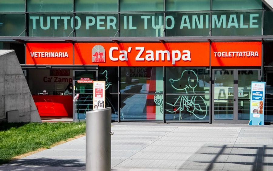 ingresso negozio ca'zampa